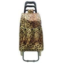 HGRQ042-1DARK BROWN Assorted Colour - Leopard Print Trolley Bag