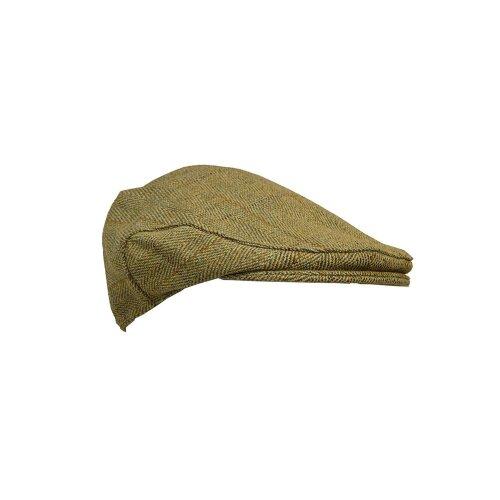 Walker & Hawkes - Kids Derby Tweed Flat Cap Hunting Shooting Countrywear Hat - Light Sage