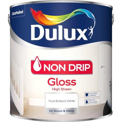 Dulux Non Drip Gloss Paint, 2.5 L - Pure Brilliant White