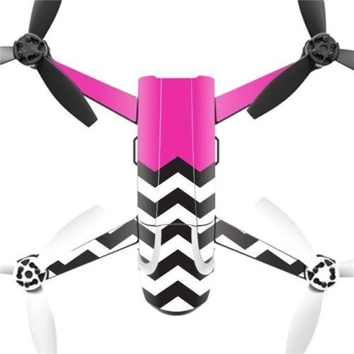 MightySkins PABEBOP2-Hot Pink Chevron Skin Decal Wrap for Parrot Bebop 2 Quadcopter Drone - Hot Pink Chevron