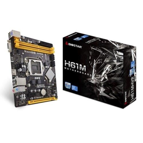 Biostar H61MHV2 Intel Socket 1155 2Nd/3Rd Gen Micro Atx Ddr3 Vga/Hdmi Usb 2 H61MHV2