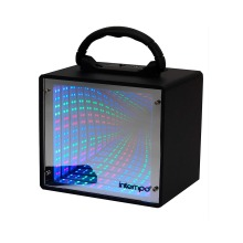 Intempo Portable Wireless Bluetooth Mirror LED Light Mini Tunnel Audio Speaker