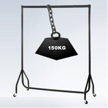 Hyfive Clothes Rail On Wheels Heavy Duty Clothes Rack Garment Hanger 5ft Long