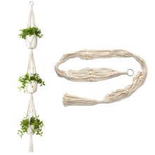 Ezylivin Macrame 3 Tier Plant Pot Hanger Decorative Hand-Made Holder..