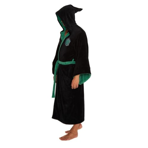 Harry Potter Slytherin Wizard Fleece Dressing Gown