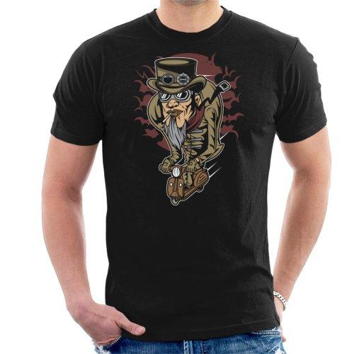 Steampunk Scooterman Men's T-Shirt