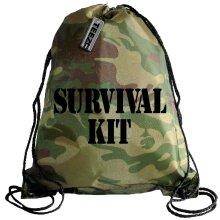 Camouflage Survival Kit drawstring bag, Swimming bag, Camping Bag
