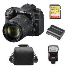 NIKON D7500 KIT AF-S 18-140MM ED VR DX+64Gcard+Bag+EN-EL15A+Speedlight