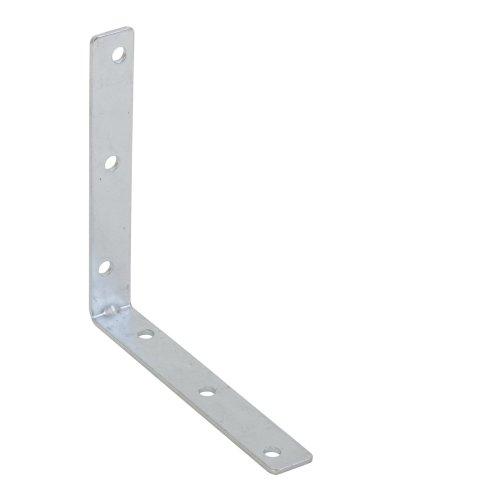 "2 X Corner Brace WHITE Brackets 2"" 50mm L Shape Fix Angle Repair Join Plastic"