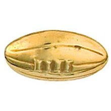 Rugby Ball Tie Tack Pin Yellow Gold Hallmarked Handmade