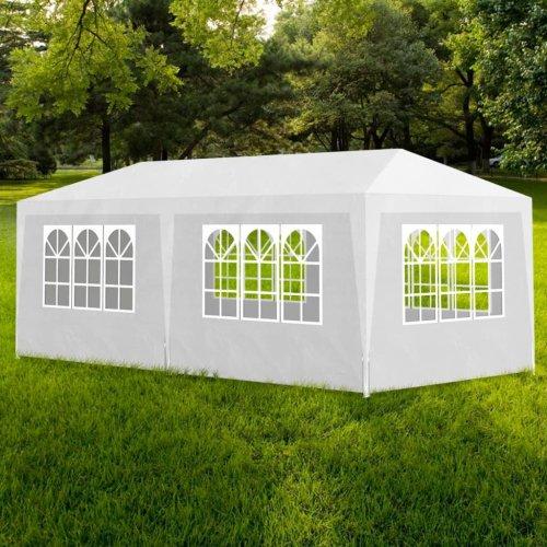 vidaXL Party Tent 3x6m with 6 Walls White Patio Garden Gazebo Marquee Pavilion