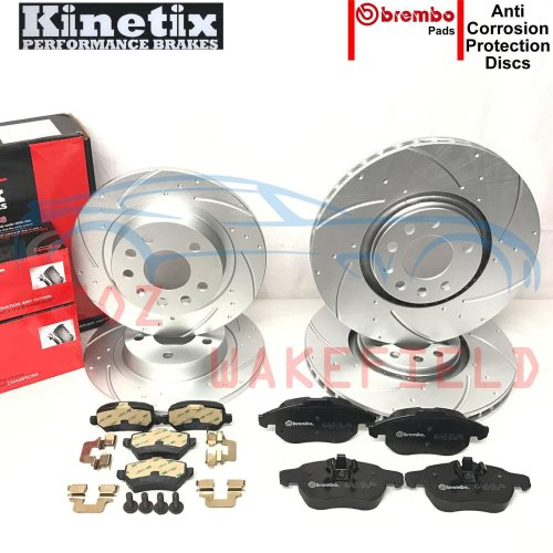 FOR VAUXHALL ASTRA H VXR NURBURGRING EDITION FRONT REAR BRAKE DISCS BREMBO PADS