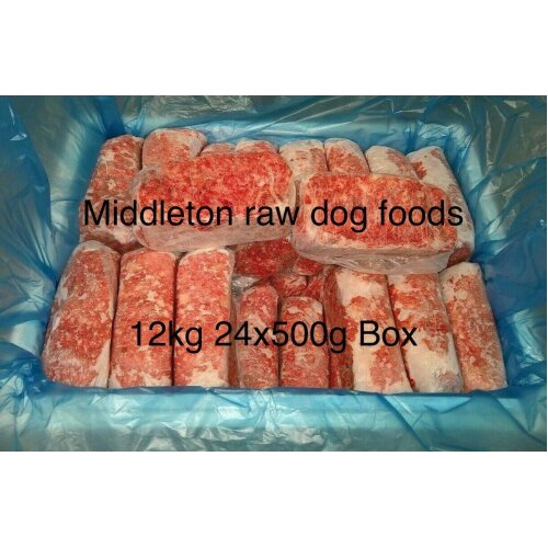 Frozen Dog Food Chicken Mince 24x 500g bags 12 kg box.