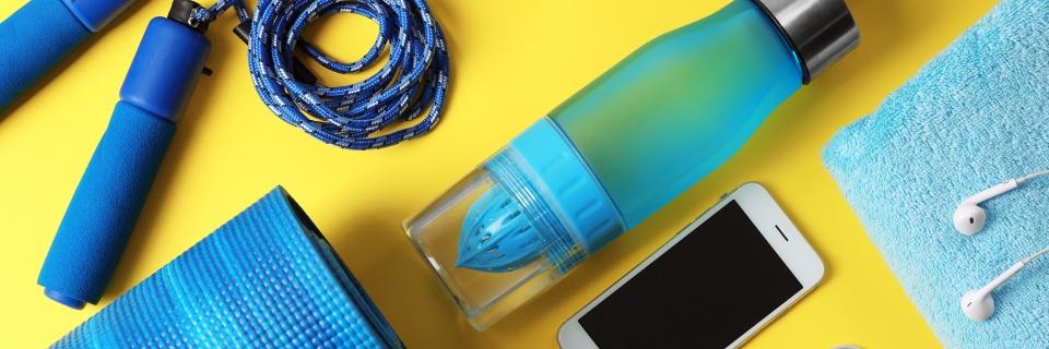 blue sports equipment