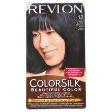 Revlon Coloursilk Permanent Hair Colour Dye Natural Blue Black 12