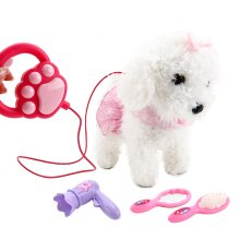 deAO Interactive Electronic Pet Dog Toy with Detachable Lead, Walking and Touch Sensing Functions