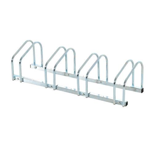 HOMCOM Bike Stand Parking Rack Floor or Wall Mount Bicycle Cycle Storage Locking Stand (4 Racks)
