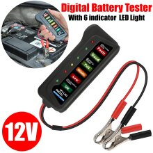 LED 12V Car Battery Tester Alternator Diagnostic Tool Battery Analyzer