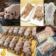 3D Dog Shape Silicone Mold Mousse Cake Chocolate Jelly Baking Mould Decor Tool