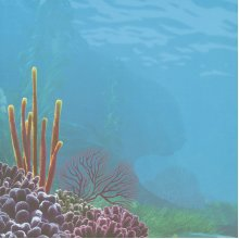 """Disney Finding Nemo Paper 12""""X12""""-Underwater Left"""