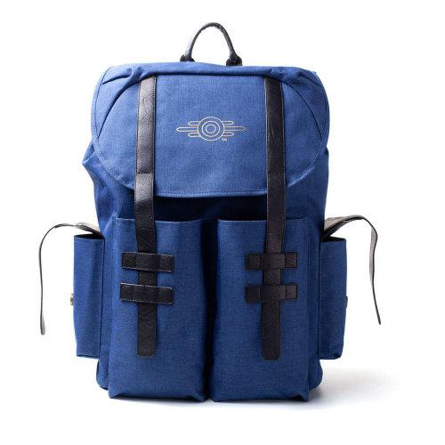 FALLOUT 76 Vault-tec Gold Foil Logo Backpack, Unisex, Blue Melange/Black (BP222483FAL)