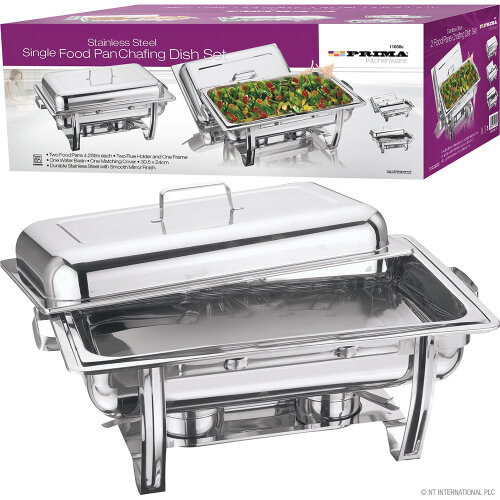 STACKABLE CHAFING DISH SET STAINLESS STEEL 8.5L COOKWARE SINGLE PARTY