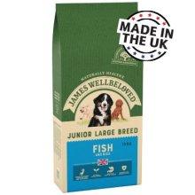 James Wellbeloved JWB Large Breed Junior Dog Fish Biscuits 15kg.
