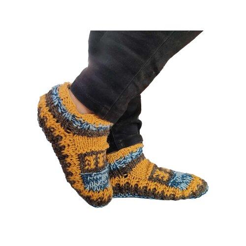 Winter Warm Handmae Wool Bed Indoor Slipper Socks - Rainbow