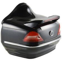 HOMCOM  26LMotorcycle Trunk Tour Tail Box Soft Backrest Luggage Storage Case