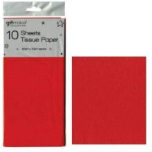 10 Sheets Tissue Paper - Red