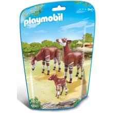 Playmobil 6643 City Life Zoo Okapi Family(Multi-color)