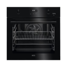 SteamBake Pyrolytic Built in Single Oven : Black