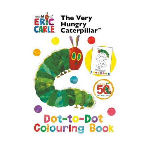 The Very Hungry Caterpillar Dot to Dot Colouring Book By Eric Carle Fun Activitys