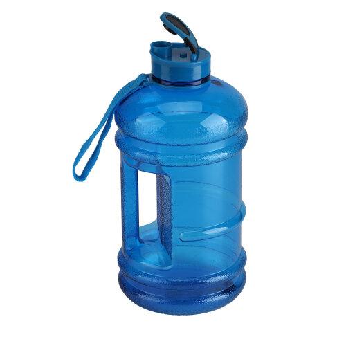 (Blue) 2.2L Big Free Sport Water Bottle Cap Kettle