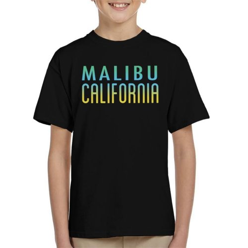 Malibu Sunny Sky Text Kid's T-Shirt