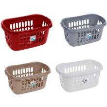 Wham Hipster Laundry Basket Modern High Grade Plastic Linen Washing Carrier