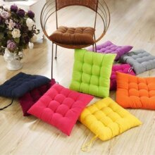 Seat Pad Dining Room Home Garden Kitchen Square Chair Cushions with Tie On Home