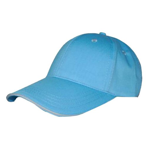 Comfortable Breathable Cotton Baseball Cap Travel Sports Hat [sky blue]