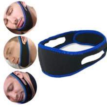New Anti Snore Aid Sleep Apnea Stop Snoring Strap Belt Jaw Solution Chin Support