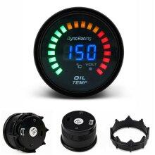 """2"""" 52mm Universal Car Smoke Lens LED Digital Analog Oil Temp Temperature Gauge Meter for Most 12V Gasoline Vehicle"""