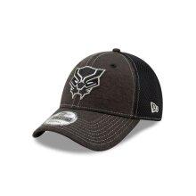 Black Panther 111498 Black Panther Logo Dark Grey New Era 9Forty Adjustable Hat
