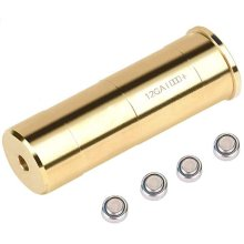 12 Gauge Boresight Brass Red Laser Bore Sight Cartridge