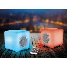 KitSound Glow LED Twin Stereo Bluetooth Speakers Waterproof Dustproof Outdoor