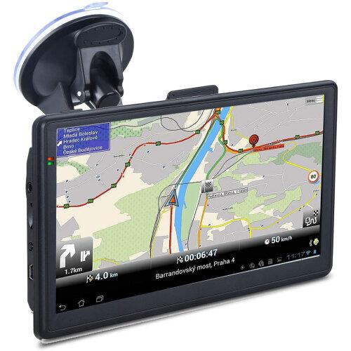 "7"" Sat Nav Car Truck HGV GPS Navigation Free POI UK Maps Speedcam"