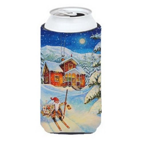 Christmas Gnome Headed Out Tall Boy Can cooler Hugger