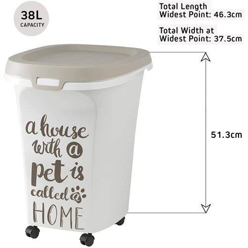 Extra Large Storage Container Dispenser Dry Food Seed Pet Animal Bin Dog Cat Bird Size 38L