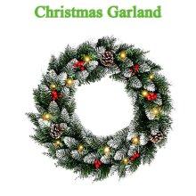 Christmas Garland LED String Light Festival Gift Fireplace Mantel Xmas Garland