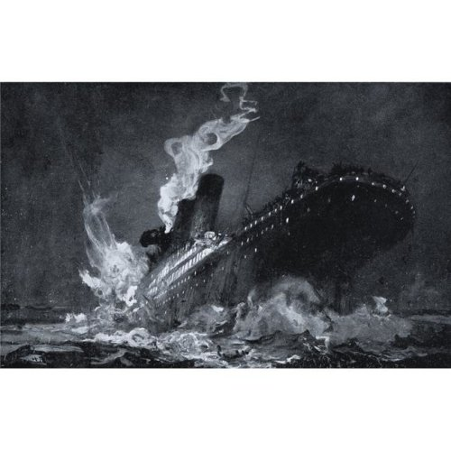 The 46 328 Tons Rms Titanic of the White Star Line Sinking Around 220 Am Monday Morning April 15 After Hitting Iceberg Poster Print, 18 x 12