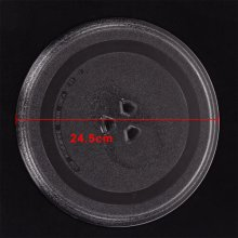 Universal Glass Microwave Oven Plate 245mm Turntable 3 Pip Fixings