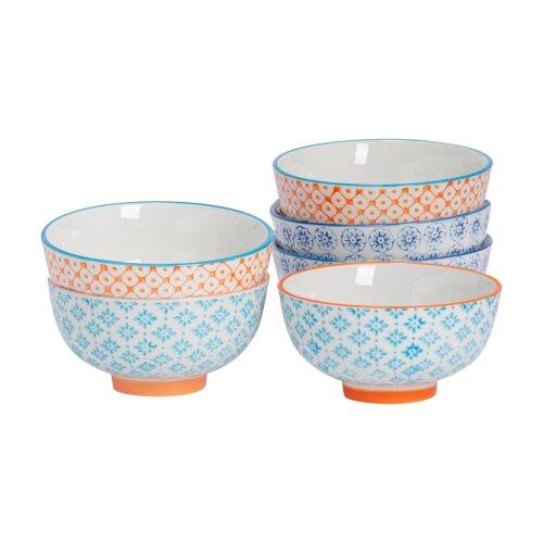 Patterned Rice Dessert Cereal Soup Bowls Porcelain Crockery 3 Designs 114mm x6